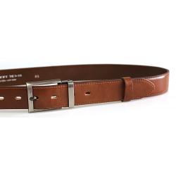 Luxusní kožený společenský opasek Belts 35-020-1-48 hnedý