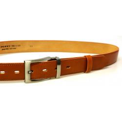 Luxusní kožený společenský opasek Belts 35-020-22-42 sv.hnědý