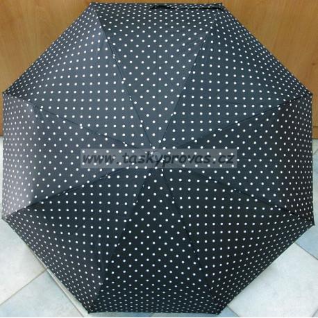 Deštník skládací Magiq 306 černá/bílá