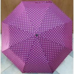 Deštník skládací Magiq 306 fialová/bílá