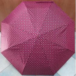 Deštník skládací Cabrio 307 vínový