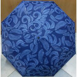 Deštník skládací Cabrio 306 modrý/pírka