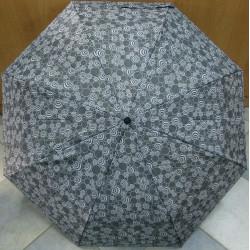 Deštník skládací Cabrio 306 šedý/kolečka