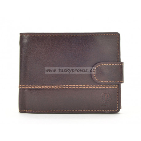 Pánská kožená peněženka Poyem 5223 hnědá