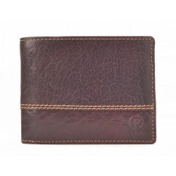 Pánská kožená peněženka Poyem 5221 hnědá