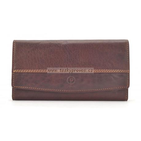 Dámská kožená peněženka Poyem 5224 hnědá