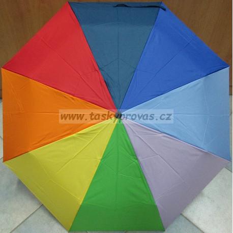 Deštník skládací Splash 306 duhový