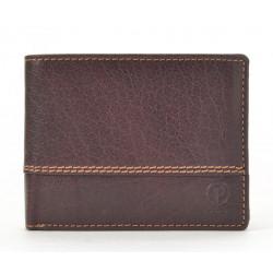 Pánská kožená peněženka Poyem 5222 hnědá