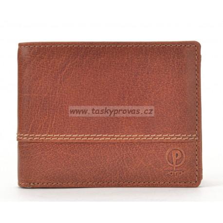 Pánská kožená peněženka Poyem 5222 koňaková