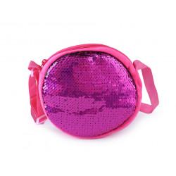 Dětská kabelka s oboustrannými měnícími flitry 770991 růžová