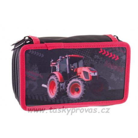 Školní penál Stil dvoupatrový Tractor