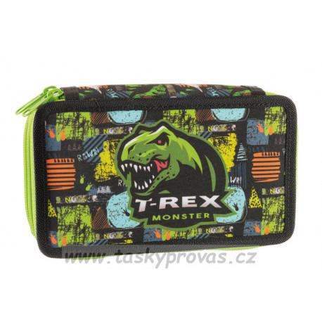 Školní penál Stil dvoupatrový T-rex