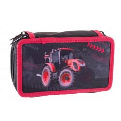 Školní penál Stil třípatrový Tractor