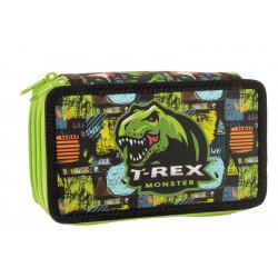 Školní penál Stil třípatrový T-rex