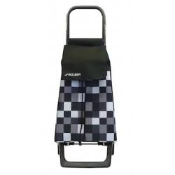 Rolser nákupní taška na kolečkách Jet DAMA JOY JET038 černo-šedá