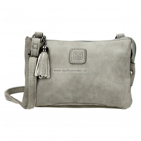 Crossbody malá kabelka Enrico Benetti 66180 mid grey