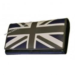 Peněženka dámská kožená Loren D7-SN černá/bílá/šedá/modrá