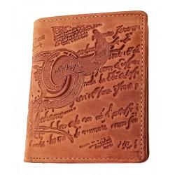 Malá pánská kožená peněženka DD 91-33 hnědá