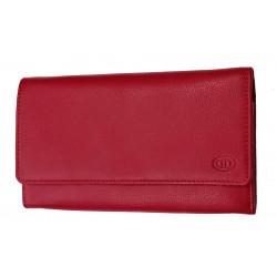 Dámská kožená peněženka DD 01-07 červená