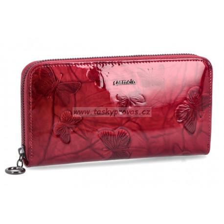Carmelo dámská kožená peněženka 2111M red