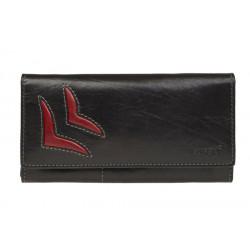 Dámská kožená luxusní peněženka Lagen 6011/T černá/červená
