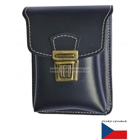 Kožená kapsa na pásek Greisi M1-CSS černá