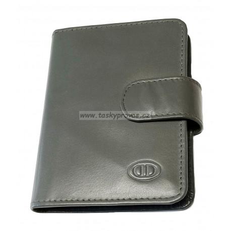 Kožené pouzdro na vizitky nebo kreditní karty DD SPL 97-05 šedé