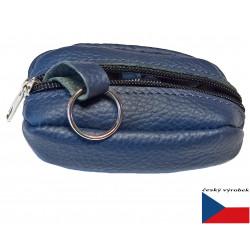 Klíčenka kožená Greisi 12-04 modrá