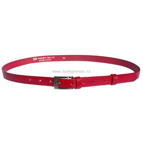 Opasek dámský kožený Penny Belts 20-183-93 červený