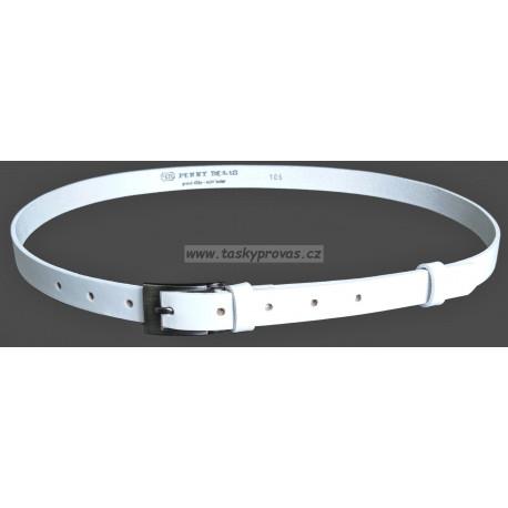 Opasek dámský kožený Penny Belts 20-183-00 bílý
