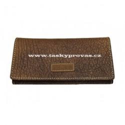 Dámská kožená peněženka Lagen W-2024/W hnědá