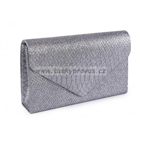 Kabelka - psaníčko s glitry 810080 tm.šedá