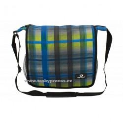 Sportovní taška s kapsou na notebook Friedrich Lederwaren Olomolo 56044-0-3 šedá/modrá/zelinkavá