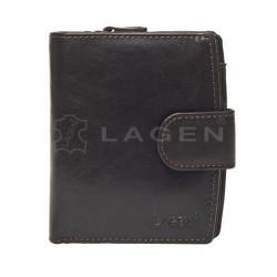 Kožená peněženka dámská Lagen 3807/T hnědá