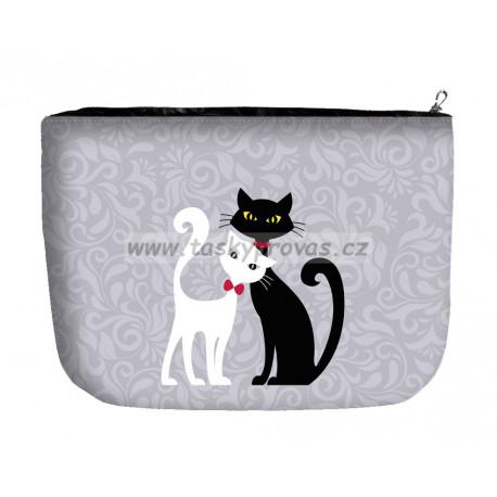Kosmetická/toaletní taška velká - Black & White Bertoni 322-2