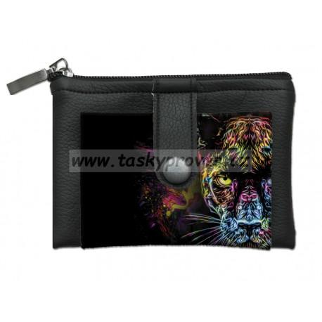 Designová peněženka/klíčenka Bertoni - Black Panther 818-2