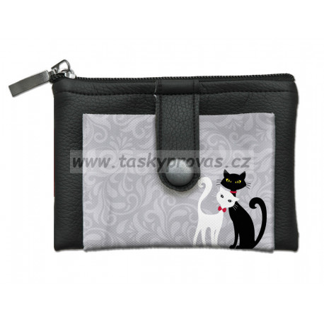 Designová peněženka/klíčenka Bertoni - Black & White 818-3