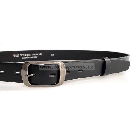 Opasek kožený Penny Belts 30-190-63 černý