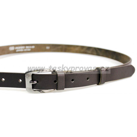 Opasek dámský kožený Penny Belts 25-172-50 šedý