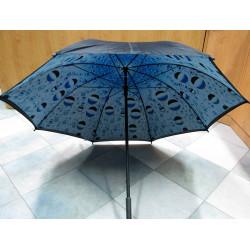 Deštník holový dvouplášťový černý/ kapky