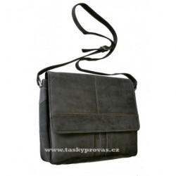 Kožená taška přes rameno Tom 2040/82/80 černošedá