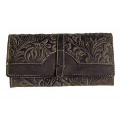 Dámská kožená peněženka Talacko 1854 tm.hnědá ražba