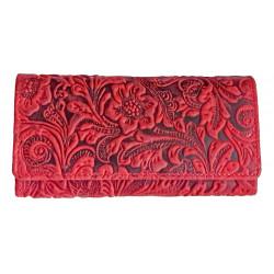 Dámská kožená peněženka Tal. 1264 red ražba