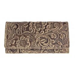 Dámská kožená peněženka Tal. 1264 light brown ražba