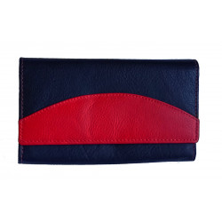 Dámská kožená peněženka Talacko 240-07 black/red