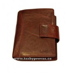 Kožená luxusní peněženka Lagen 3808/T vínově červená