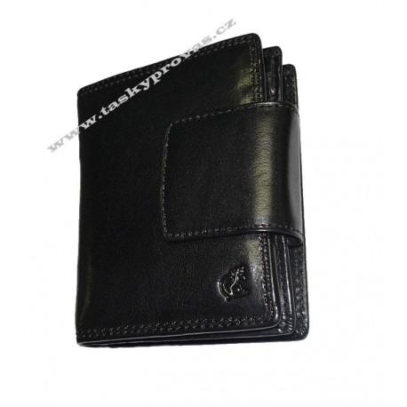 Dámská kožená luxusní peněženka Cosset 4404 Komodo černá