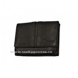 Malá kožená peněženka Delami 9386 černá